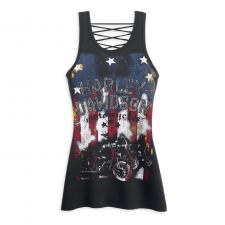 "Top ""Laced Back Stars & Stripes Tank Top"" 96354-13VW"