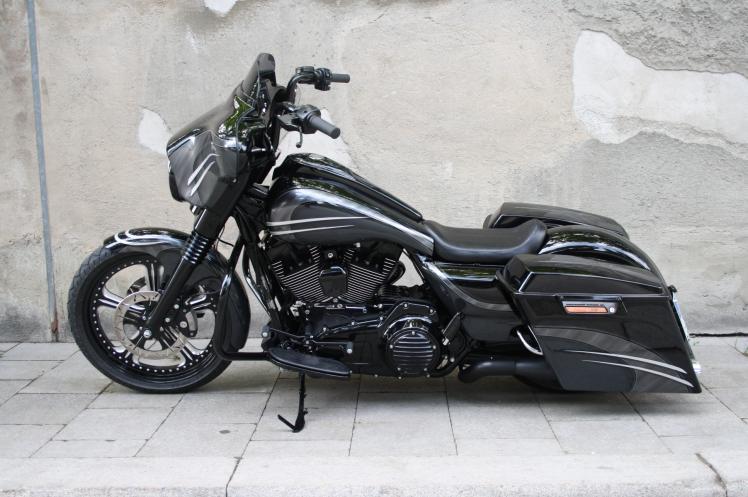 touring flhx street glide umbau j55 custom bikes. Black Bedroom Furniture Sets. Home Design Ideas